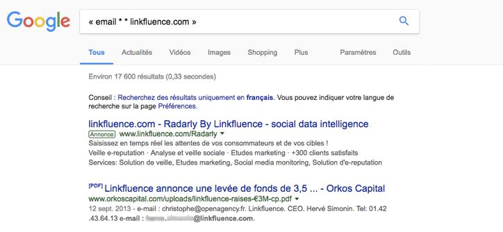 exemple linkfluence